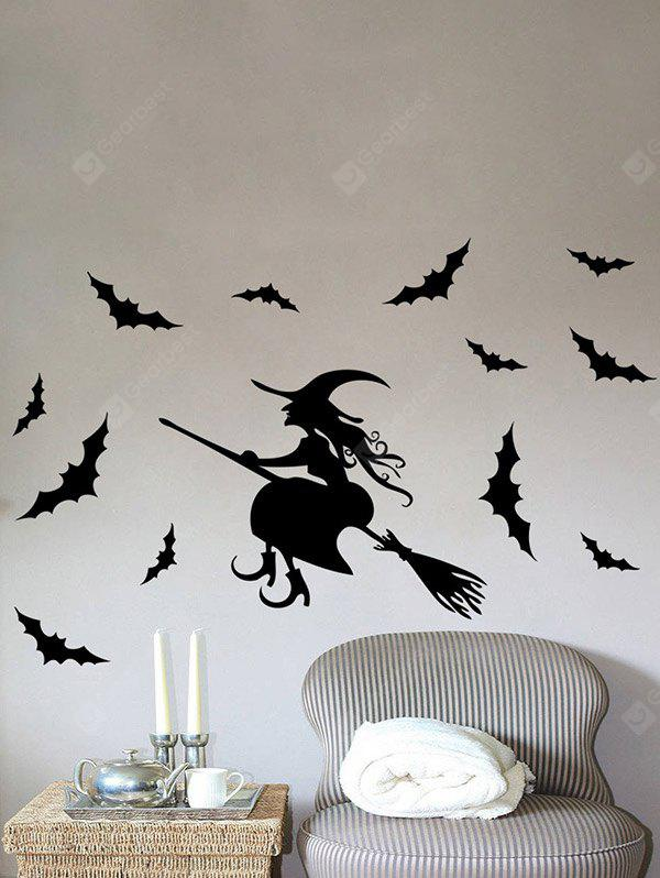 Halloween Witch Bats Stickers muraux amovibles