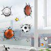 3D Ball Games Sports Wall Stickers For Bedrooms - YELLOW AND BLACK