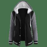 Fleece Baseball Jacket with Hood deal