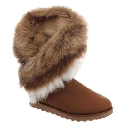 Trendy Color Block and Faux Fur Design Women's Snow Boots