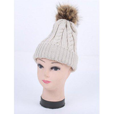 Cable Knit Pom Hat
