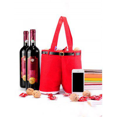 Gearbest Christmas Red Wine Bag Candy Gift Bag - RED