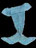 Stylish Knitted Mermaid Baby Blanket - COLORMIX
