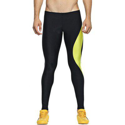 Color Splicing Skinny Elastic Waist Gym Pants