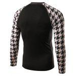 Active Houndstooth Raglan Long Sleeve Cycling T-Shirt photo
