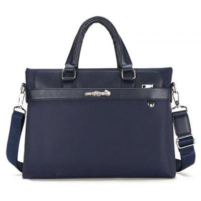 Leisure Solid Colour and Zippers Design Briefcase For Men