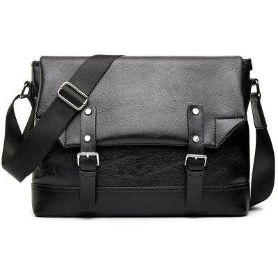 Flap Double Buckle Straps Messenger Bag