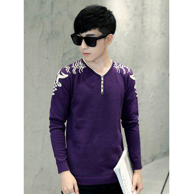 Jacquard Long Sleeve Knitwear