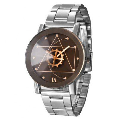 Gear Geometric Steel Band Quartz Watch