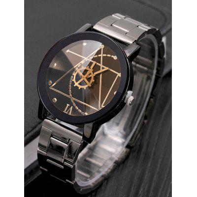 Gear Geometric Steel Band Quartz WatchMens Watches<br>Gear Geometric Steel Band Quartz Watch<br><br>Band material: Steel<br>Case material: Alloy<br>Display type: Analog<br>Movement type: Quartz watch<br>Package Contents: 1 x Watch<br>Package size (L x W x H): 25.00 x 5.00 x 2.00 cm / 9.84 x 1.97 x 0.79 inches<br>Package weight: 0.0800 kg<br>Watches categories: Male table