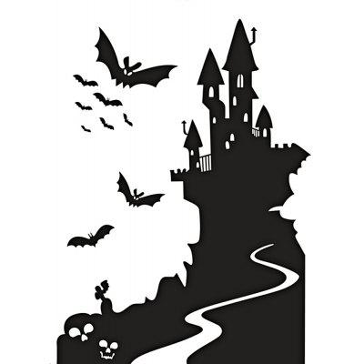 Bat Castle Decorative Removable Decals for Walls