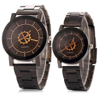 Compass Shape Couple Quartz Watches
