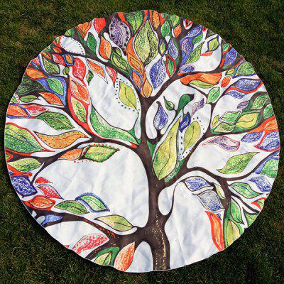 Colorful Life Tree Round Beach Throw