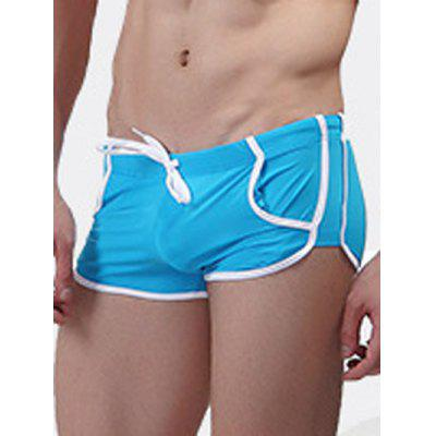 Low Waist Trimmed Swimming TrunksMens Swimwear<br>Low Waist Trimmed Swimming Trunks<br><br>Elasticity: Elastic<br>Gender: For Men<br>Material: Nylon<br>Package Contents: 1 x Swimming Trunks<br>Pattern Type: Others<br>Swimwear Type: Two-Pieces Separate<br>Waist: Low Waisted<br>Weight: 0.1500kg