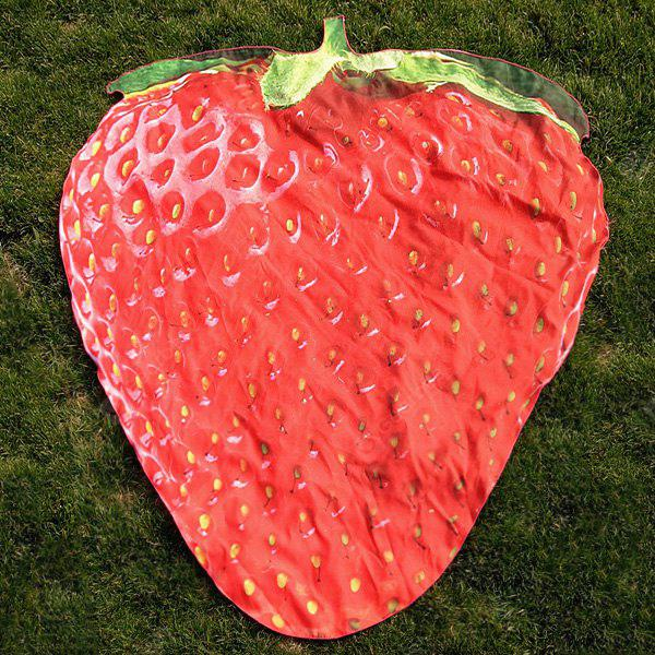 Strawberry Shape Polyester Beach Throw Cover