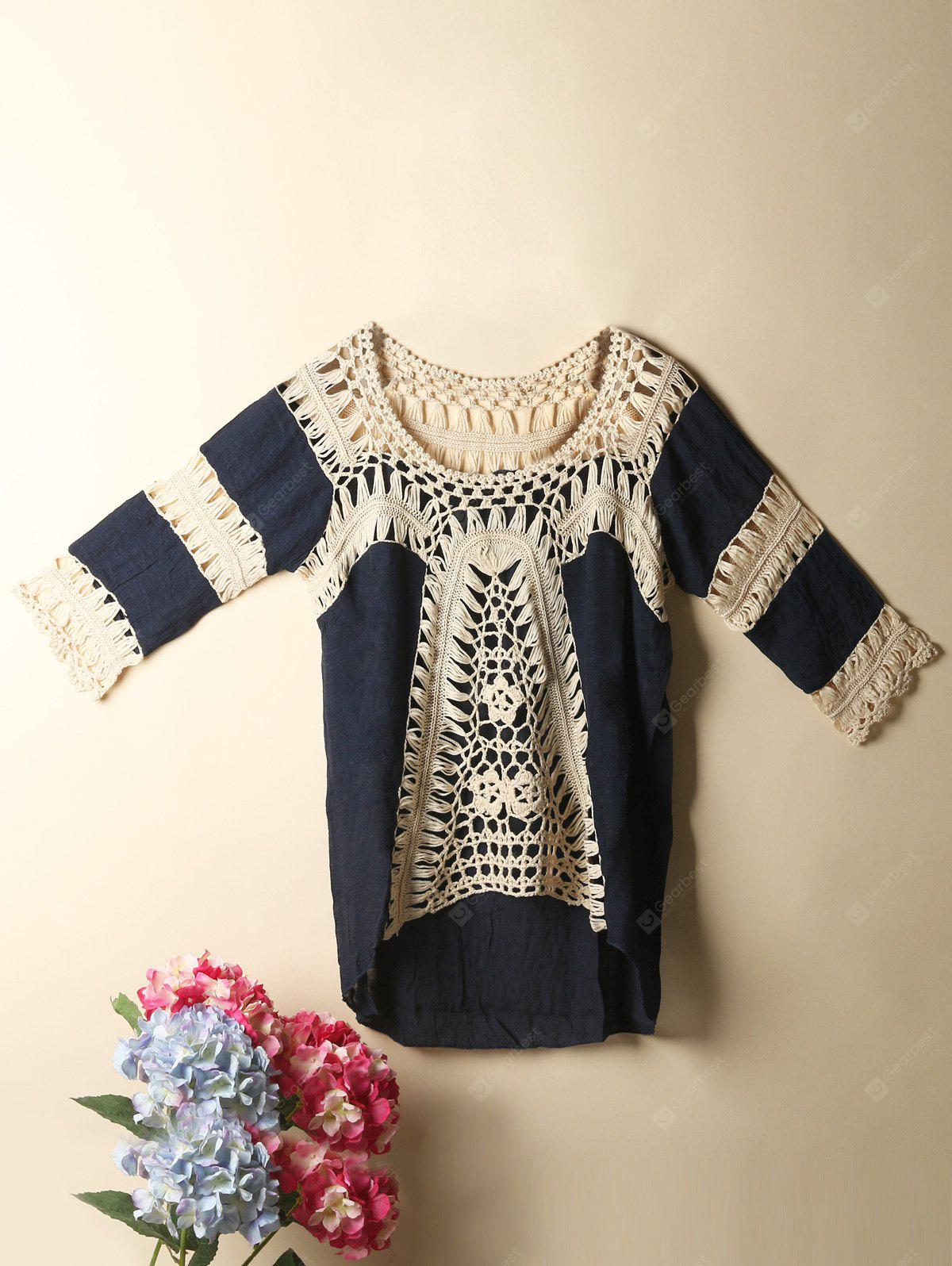 High Low Crochet Cover Up Top