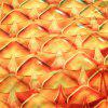 Pineapple Shape Polyester Beach Throw - ORANGE