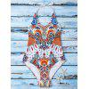 Criss Cross Printed Halter One Piece Swimwear - COLORMIX