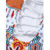 Criss Cross Printed Halter One Piece Bademode - COLORMIX