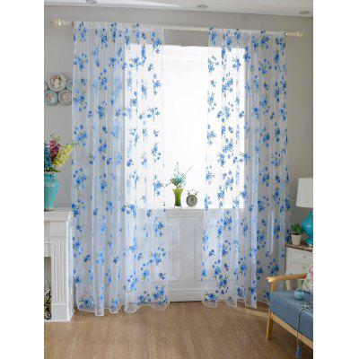 Buy SKY BLUE Flower Embroider Sheer Fabric Voile Curtain for $8.11 in GearBest store