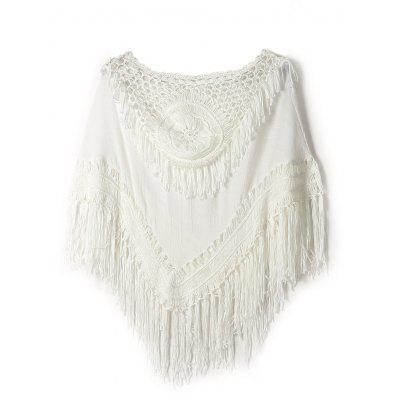 Batwing Crochet Fringe Cover-Up
