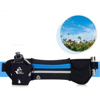 Freeknight Headphone Jack Reflective Waist Bag with One Water Bottle