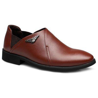 PU Leather Elastic Band Formal Shoes