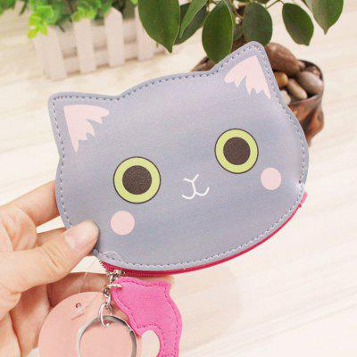 PU Leather Cat Character Coin Purse