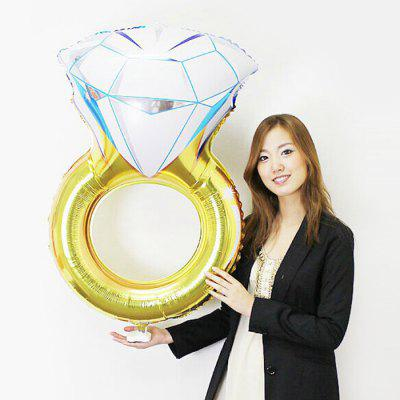 Aluminium Foil Diamond Ring Shape Balloon
