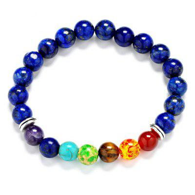 Multi-Colored Beaded Chakra Bracelet