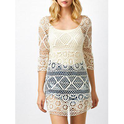 See Thru Crochet Tunic Cover Up