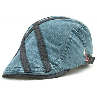 Cross Stripes Sewing Thread Cabbie Hat