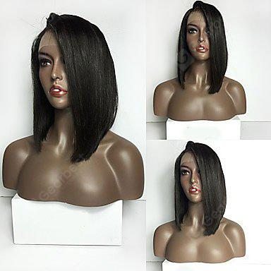 Long Side Part Straight Lace Front Synthetic Wig