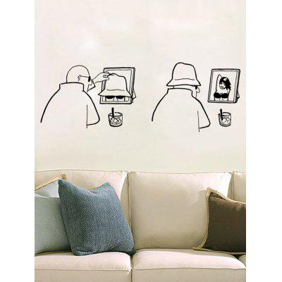 0%OFF 3D Removable Humor Hat Man Decor Personalised Vinyl Wall Sticker Part 79
