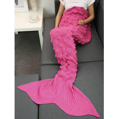 Buy ROSE MADDER Yarn Knitted Wrap Throw Mermaid Tail Blanket for $26.86 in GearBest store