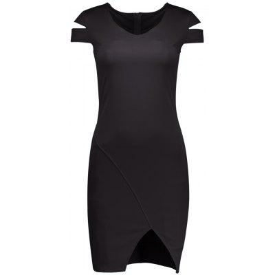 Buy BLACK S V Neck Cut Out Slit Bodycon Dress for $17.74 in GearBest store