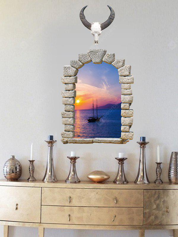 3D Faux finestra Scenario Wall Sticker rimovibile