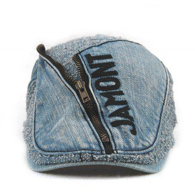 Letter Shape and Zipper Embellished Do Old Denim Fabric Cabbie Hat For MenMens Hats<br>Letter Shape and Zipper Embellished Do Old Denim Fabric Cabbie Hat For Men<br><br>Circumference (CM): 56CM-59CM<br>Gender: For Men<br>Group: Adult<br>Hat Type: Newsboy Caps<br>Material: Jeans<br>Package Contents: 1 x Hat<br>Pattern Type: Letter<br>Style: Fashion<br>Weight: 0.1440kg