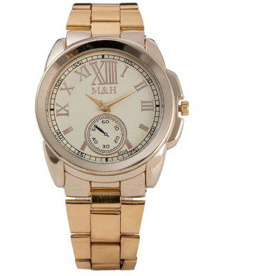 Buy GOLDEN Alloy Strap Roman Numerals Analog Watch for $8.77 in GearBest store