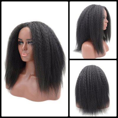 Long Yaki Straight Middle Part Lace Front Synthetic Wig