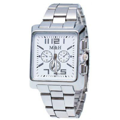 Buy WHITE Metallic Strap Square Analog Watch for $7.97 in GearBest store