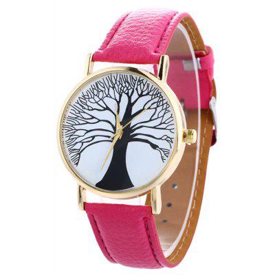 Buy TUTTI FRUTTI Faux Leather Tree Of Life Analog Watch for $7.16 in GearBest store