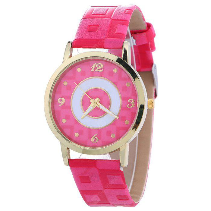 TUTTI FRUTTI Faux Leather Color Block Analog Watch