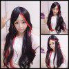 Harajuku Long Straight Centre Parting Cosplay Synthetic Wig - COLORMIX