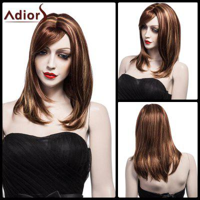 Adiors Long Side Bang Bob Straight Synthetic Wig