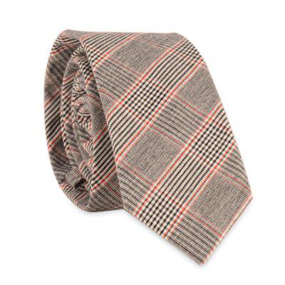 Pinstripe Plaid Neck Tie