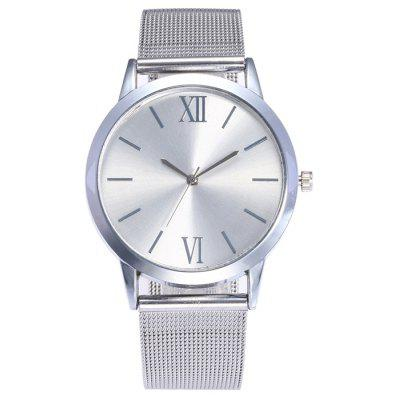 Buy SILVER Metallic Mesh Band Analog Watch for $7.16 in GearBest store