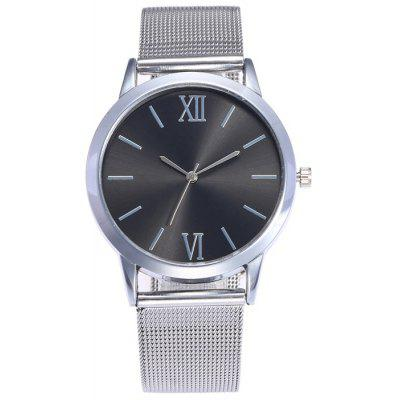 Buy BLACK + SILVER Metallic Mesh Band Analog Watch for $7.16 in GearBest store