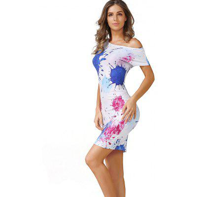 Buy COLORMIX M Paint Splatter Bodycon Dress for $15.41 in GearBest store