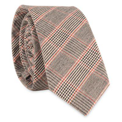 Pinstripe Plaid-Hals-Bindung